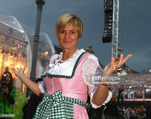 Countess Gloria von Thurn und Taxis attends the opera 'Carmen' at the Thurn und Taxis castle festival on July 11 in Regensburg Germany