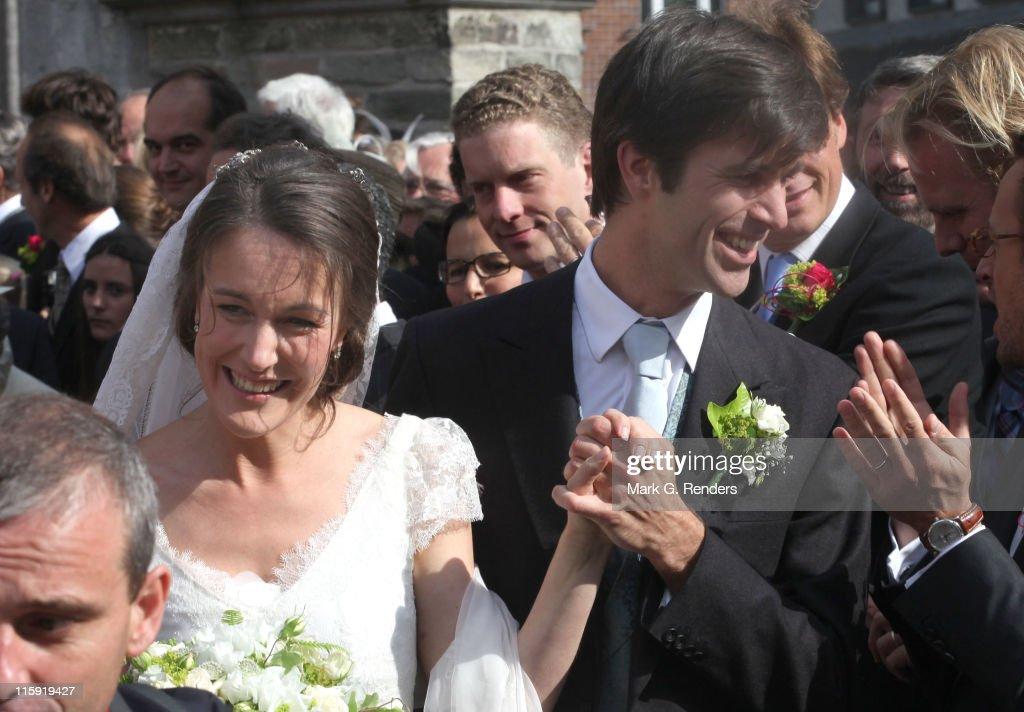 Helene d'Udekem d'Acoz And Nicolas Janssen Wedding In Bastogne : News Photo