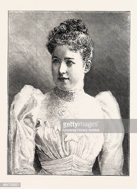 Countess Herbert Bismarck Nee Hoyos 1892 Engraving