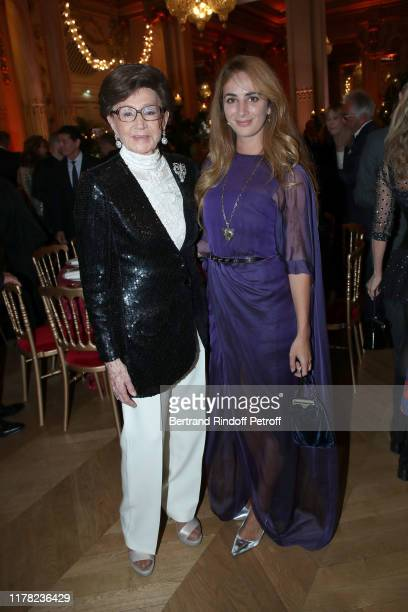 Countess Jacqueline de Ribes and Alexia Niedzielski attend the Societe Des Amis Du Musee D'Orsay Dinner Party Hosted By Countess Jacqueline De Ribes...