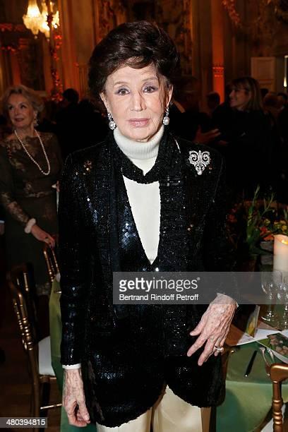 Countess Jacqueline de Ribes attends the dinner party of the Societe Des Amis Du Musee D'Orsay at Musee d'Orsay on March 24 2014 in Paris France