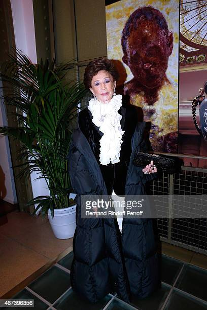 Countess Jacqueline de Ribes attends the 'Societe des Amis du Musee D'Orsay' Dinner Party at Musee d'Orsay on March 23 2015 in Paris France