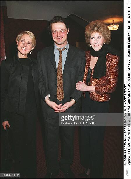 Countess 'Jean De Yturbe' 'Gerard Sibleyras' countess 'Anne Marie De Ganay' preview at the Montparnasse theater for the benefit of the association...