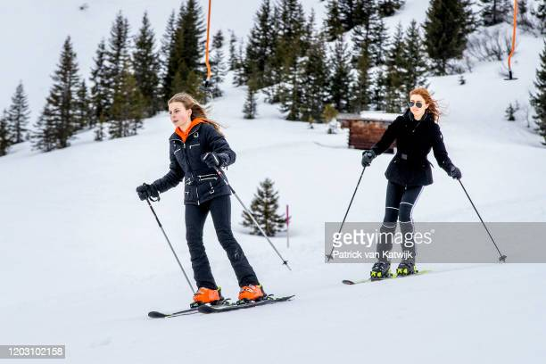 Countess Leonore of The Netherlands and Princess Alexia of The Netherlands during the annual photo call on February 25 2020 in Lech Austria