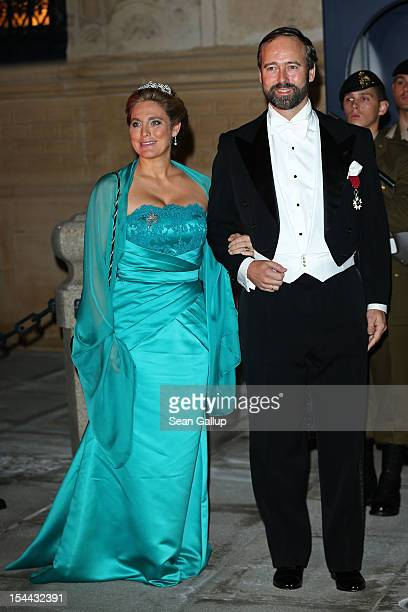 Countess Louisa de Lannoy and Count Christian de Lannoy attend the Gala dinner for the wedding of Prince Guillaume Of Luxembourg and Stephanie de...