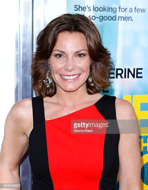 Countess LuAnn de Lesseps attends the One for the Money premiere at the AMC Loews Lincoln Square on January 24 2012 in New York City