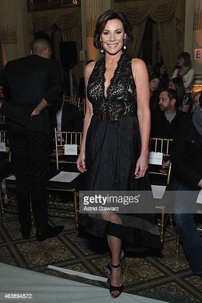 Countess LuAnn de Lesseps attends the Sherri Hill fashion show during MercedesBenz Fashion Week Fall 2015 at The Plaza on February 19 2015 in New...
