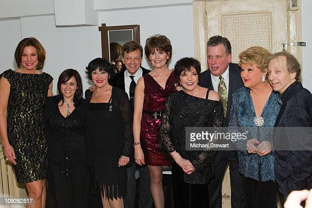 Countess LuAnn de Lesseps Lisa Mordente Chita Rivera Jim Caruso Lucie Arnaz Liza Minnelli Billy Stitch Marilyn Maye and Scott Siegel attend The Best...