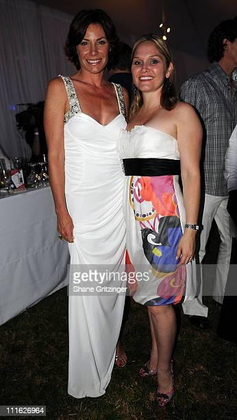 Countess LuAnn de Lesseps of Bravos ' Real Housewives of New York City' and Publicist Kristen Green attend the 2008 American Cancer Society's Denim...