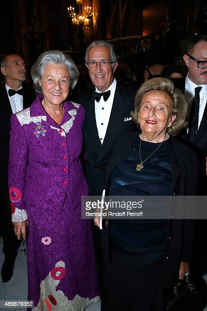 Countess Marina de Brantes her husband Count Guy de brantes and Bernadette Chirac attend the Ballet National de Paris Opening Season Gala at Opera...