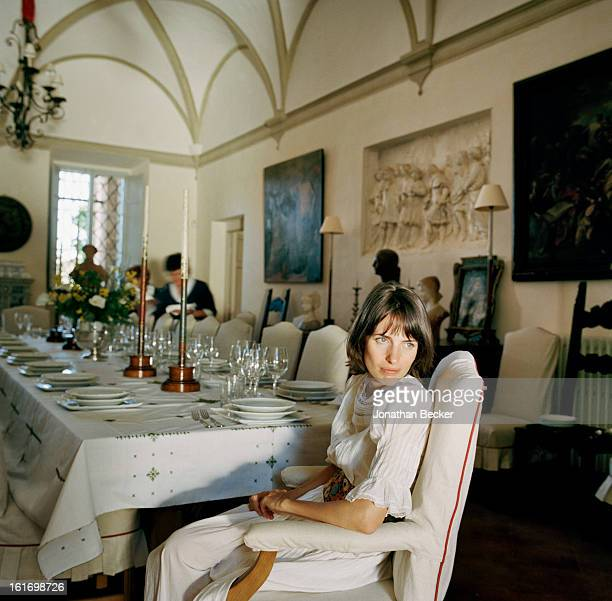 Countess Marina Lambton is photographed for Vanity Fair Magazine on May 11 2012 in the dining room of Villa Cetinale in Siena Italy