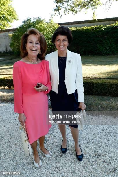Countess Marisol de Fry and Princess Chantal de Bourbon Parme attend Wedding of Helene de Yougoslavia and Stanislas Fougeron at Chateau de...