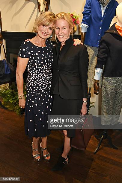 Countess Maya Von Schoenburg and Sydney IngleFinch attend the launch of Stella Tennant and Isabella Cawdor's collection for Holland Holland at their...