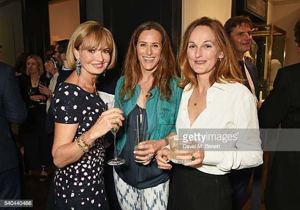 Countess Maya Von Schoenburg Nats Davies and Isabella Cawdor attend the launch of Stella Tennant and Isabella Cawdor's collection for Holland Holland...