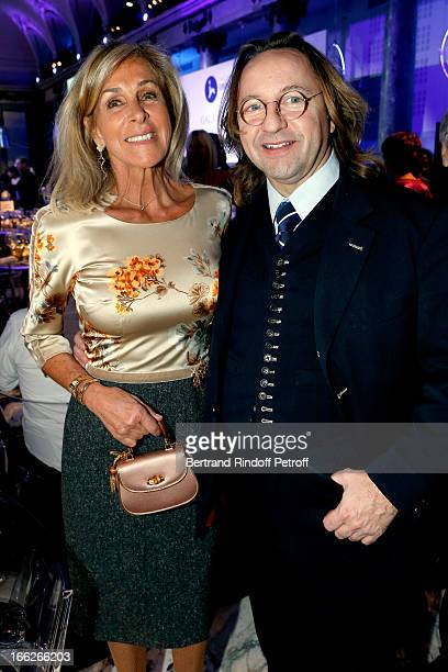 Countess Monica Agusta and Bill Pallot attend 'Scopus Awards 2013' Taste of Knowledge at Espace Cambon Capucines on April 10 2013 in Paris France