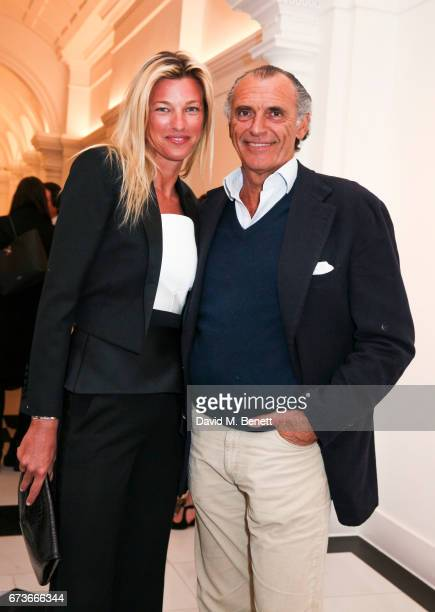 Countess Nicole Brachetti Peretti and Ferdinando BrachettiPeretti attend the opening of Galerie Thaddaeus Ropac London on April 26 2017 in London...