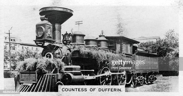 'Countess of Dufferin' Canada c1920s The first steam locomotive to operate in the Canadian prairie provinces Cigarette card produced by the...
