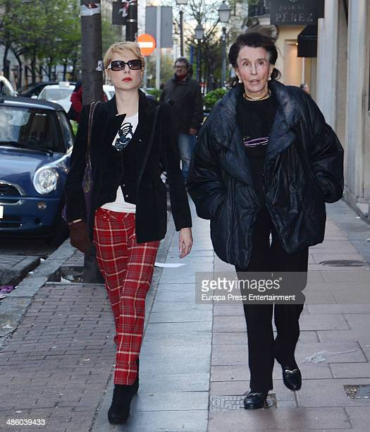 Countess of Romanones Aline Griffith is seen on April 3 2014 in Madrid Spain