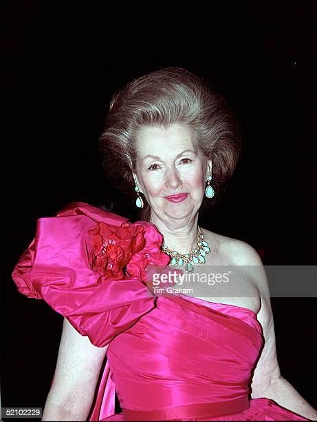 Countess Raine Spencer The Princess Of Wales Stepmother At The Natural History Museum For A Dinner And Fashion Show In Aid Of The Royal Marsden...