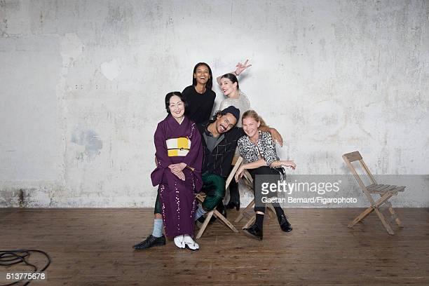 Countess Setsuko Klossowska de Rola Liya Kebede Haider Ackermann MarieAgnes Gillot and Elizabeth von Guttman are photographed for Madame Figaro on...