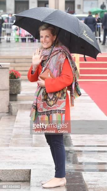 Countess Sophie Of Wessex attends a luncheon on the Royal yacht Norge on the occasion of the celebration of King Harald and Queen Sonja of Norway 80...