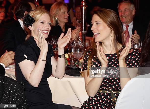 Countess Tamara von Nayhauss and Celia von Bismarck attend the Hear the World Foundation Charity Gala at Ritz Carlton on October 16 2010 in Berlin...