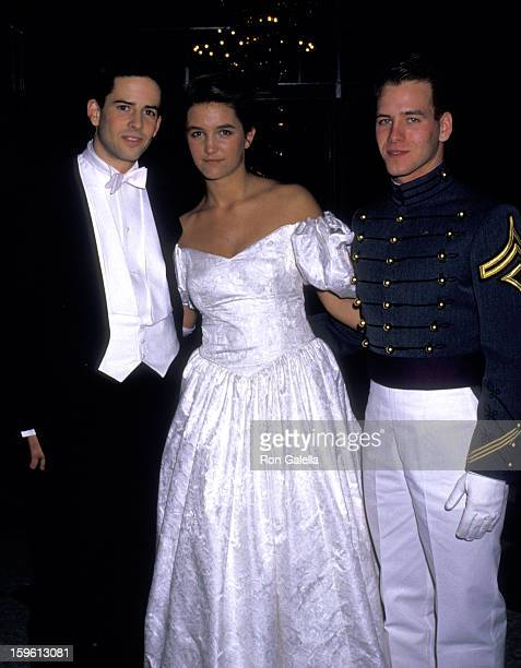 Countess Vanessa von Bismarck Dennis Lyons and Dean Dochterman attend 33rd Annual International Debutante Ball on December 29 1987 at the Waldorf...