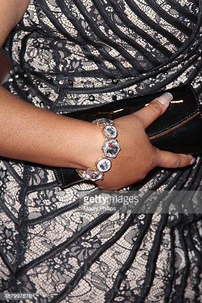 Countess Vaughn bracelet detail arrives at the 5th Annual Nollywood African Film Critics Awards at Orpheum Theatre on September 12 2015 in Los...