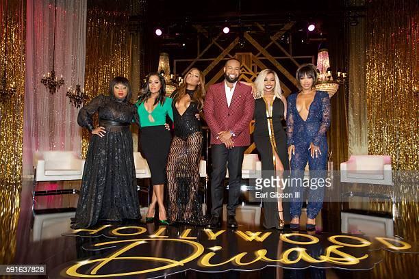 Countess Vaughn Lisa Wu Golden Brooks Hollywood Divas executive producer Carlos King Paula Jai Parker and Malika Haqq pose for a photo at TV One's...