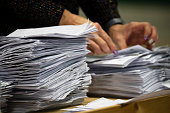 counting ballot papers during election