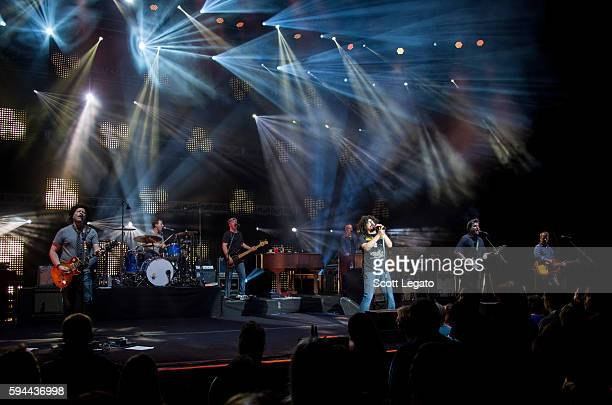 Counting Crows perform at DTE Energy Music Theatre on August 23 2016 in Clarkston Michigan
