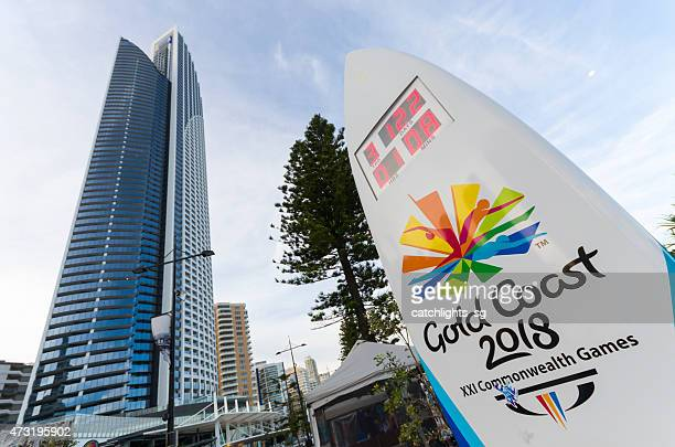 counting down to 2018 xxi commonwealth games - gold coast stock pictures, royalty-free photos & images
