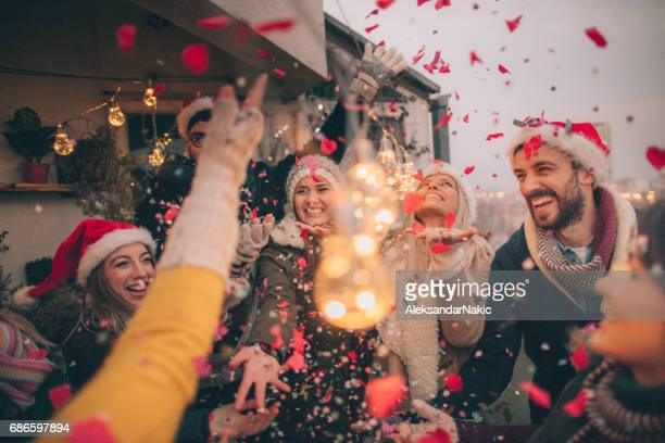 counting down to a new year's - christmas party stock photos and pictures