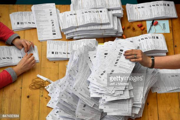 Counting gets underway in the Seven Towers Leisure Centre for the North Antrim and Mid Ulster seats in the Northern Ireland assembly election on...