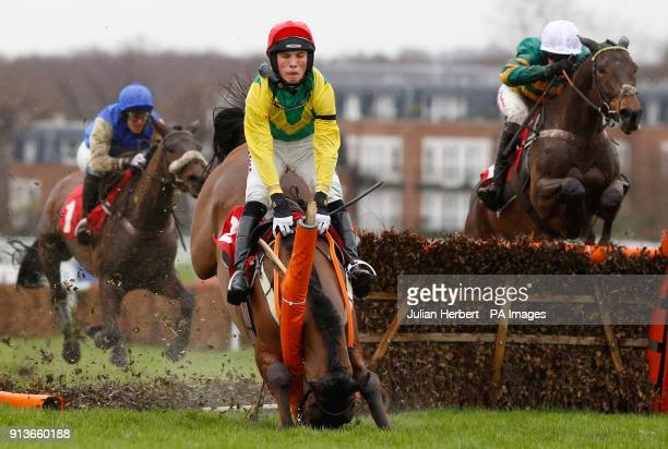 Countister and Barry Geraghty trail Ainchea and Harry Cobden over an early flight before winning The Betfred 'Home Of Goals Galore' Novices' Hurdle...