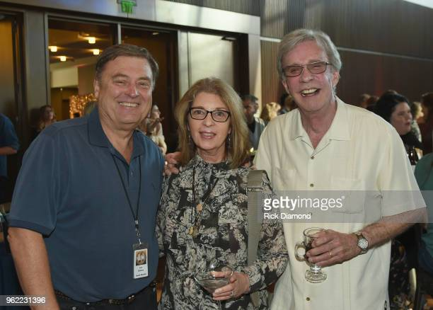 Country AirCheck's Lon Helton Nan Kingsley and host Bob Kingsley attend the CMHOF Outlaws and Armadillos VIP Opening Reception on May 24 2018 in...