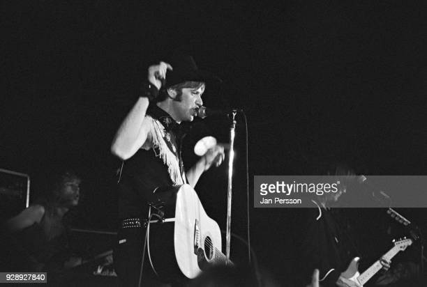 Country and western musician Jason Ringenberg of Jason and The Scorchers performing at Jazzhouse Montmartre Copenhagen Denmark October 1989