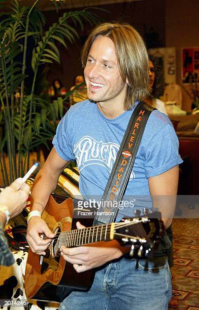 Country and Western star Keith Urban at the Academy of Country Music Awards TempurPedic Talent Lodge where he received gifts as part of the Annual...