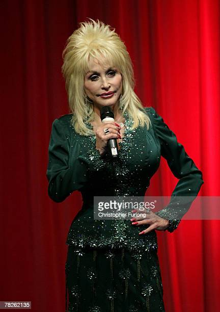 Country and western superstar singer Dolly Parton entertains the audience at the Magna Science And Adventure Park on December 5, 2007 in Rotherham,...