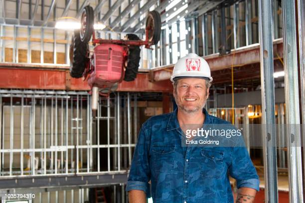 Country artist and Opry member Blake Shelton poses for a photo during a hard hat tour of Ole Red Gatlinburg on September 18 2018 in Gatlinburg...