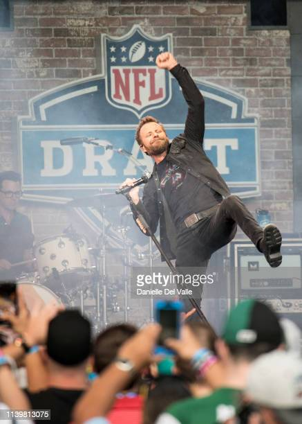 Country artist Dierks Bentley performs for the St Jude Rock 'n' Roll Marathon and ½ Marathon and the 2019 NFL Draft Experience on April 27 2019 in...
