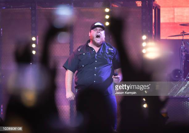 Country artist Luke Combs performs at Bridgestone Arena on September 7 2018 in Nashville Tennessee