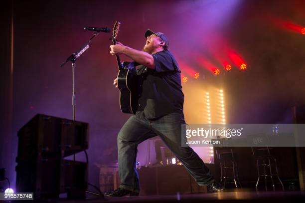 Country artist Luke Combs performs at the Ryman Auditorium on February 2 2018 in Nashville Tennessee