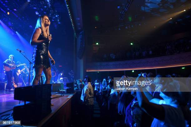Country artist Margo Price performs at the Ryman Auditorium on May 23, 2018 in Nashville, Tennessee.