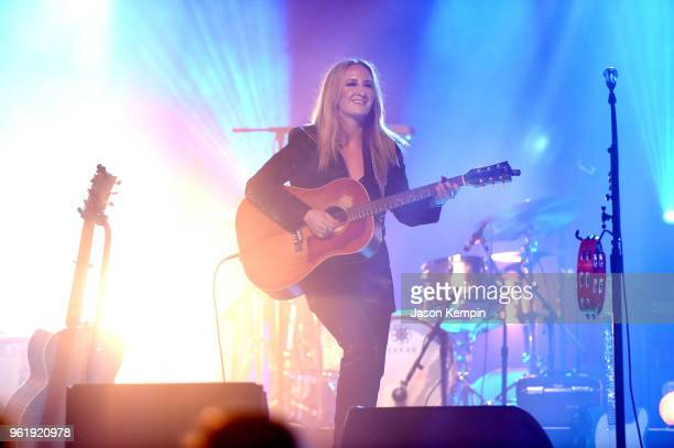 Country artist Margo Price performs at the Ryman Auditorium on May 23 2018 in Nashville Tennessee