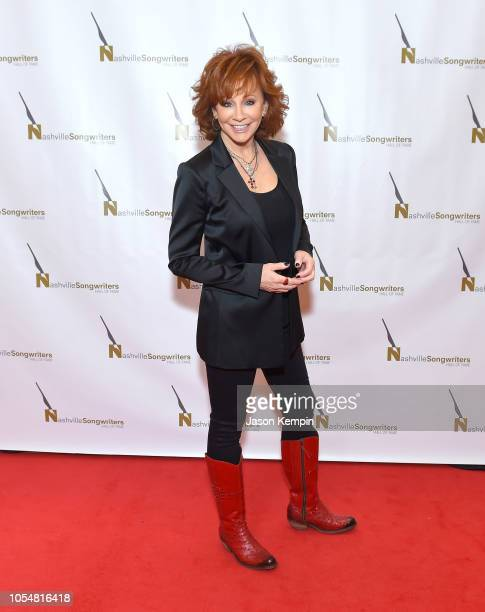 Country artist Reba McEntire attends the 2018 Nashville Songwriters Hall Of Fame Gala at Music City Center on October 28 2018 in Nashville Tennessee