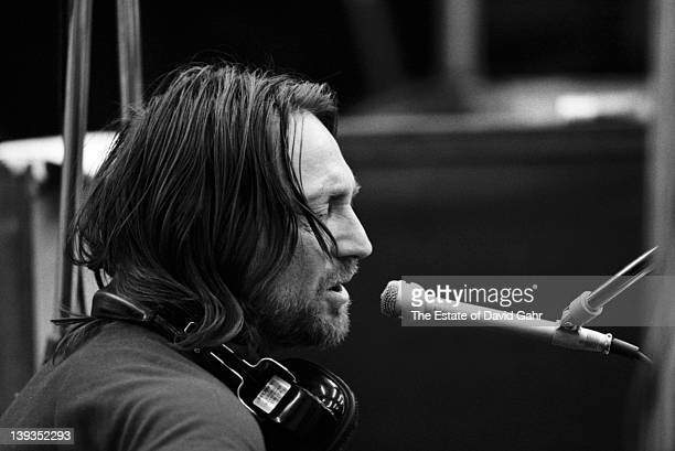 Country artist Willie Nelson in a recording session for his breakthrough 1973 album 'Shotgun Willie' in February 1973 at Atlantic Studios in New York...