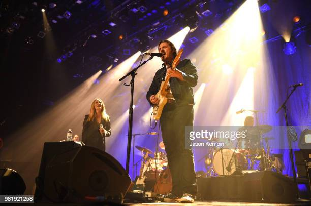 Country artists Margo Price and Sturgill Simpson perform at the Ryman Auditorium on May 23 2018 in Nashville Tennessee