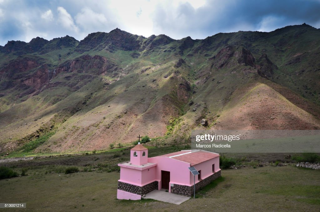 Country Church in Salta, Northern Argentina : Stock Photo