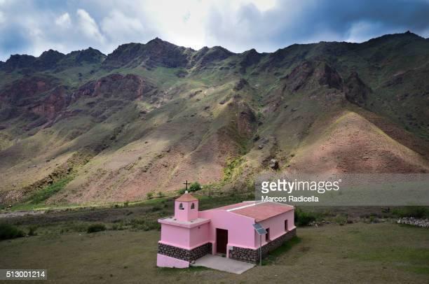 country church in salta, northern argentina - radicella stockfoto's en -beelden